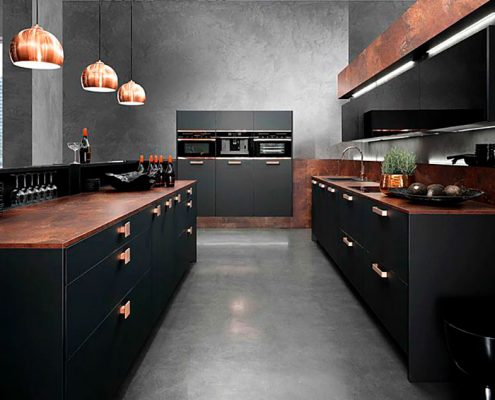 чёрная-кухня-минимализм
