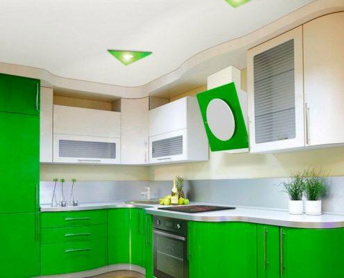 салатово-белая-кухня