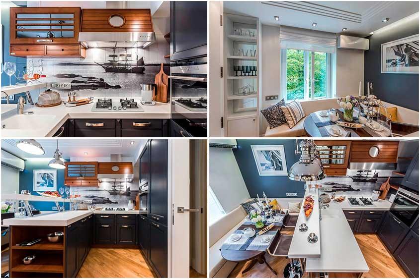 Интерьер-кухни-в-морском-стиле