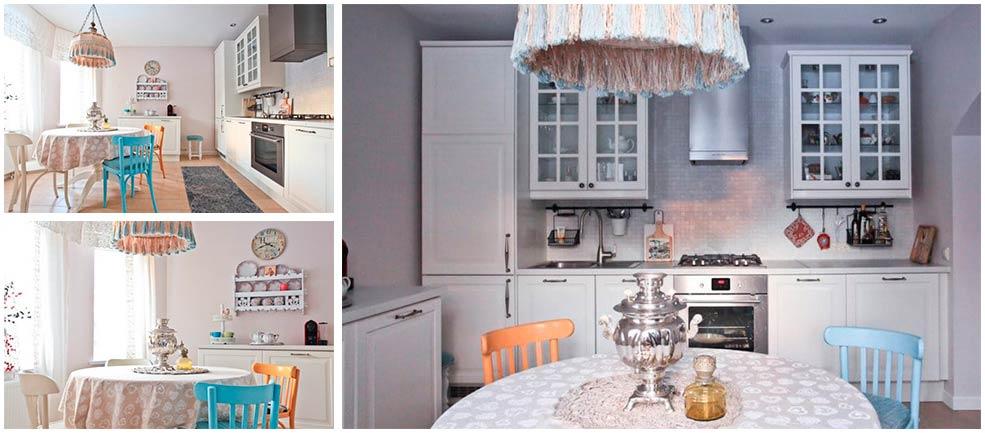 Кухня-в-английском-стиле-и-русским-самоваром