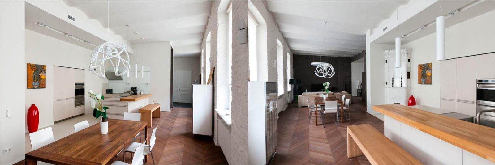 Пол-в-интерьере-кухни-в-стиле-минимализм