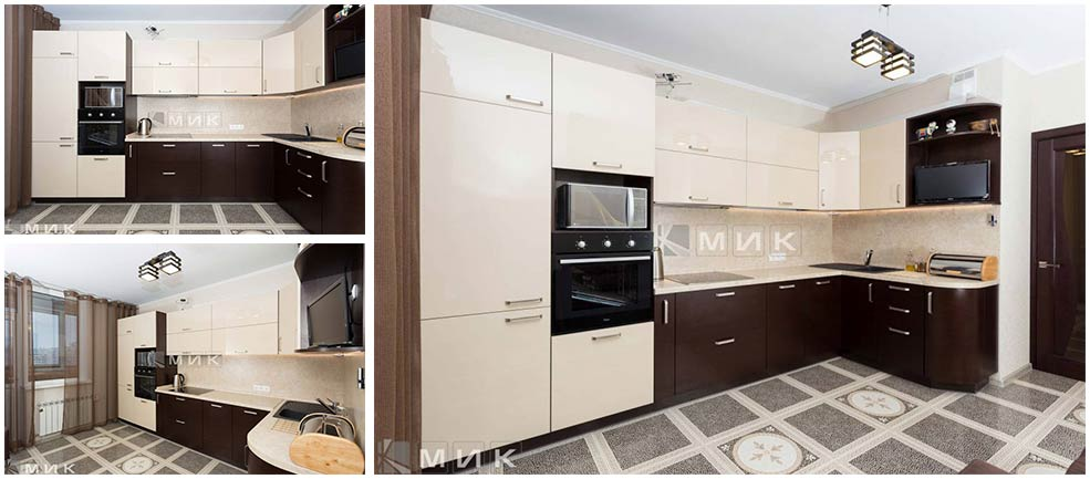 бежево-коричневая-кухня