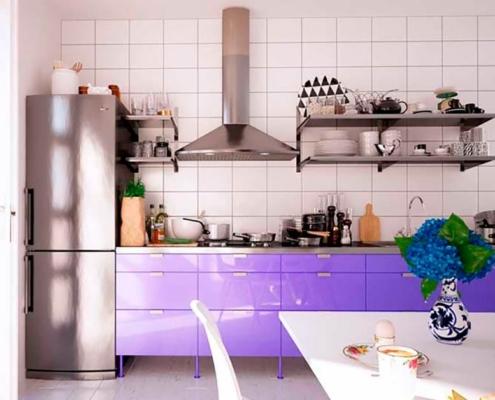 сиреневая-кухня-прямая-дизайн