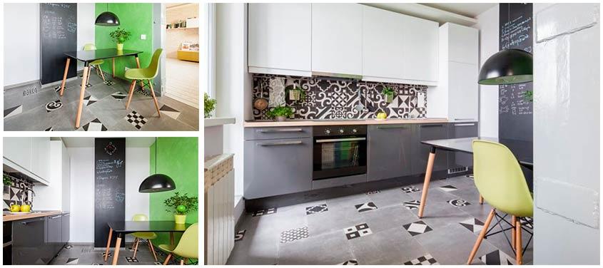 Серый-пол-из-плитки-в-интерьере-кухни