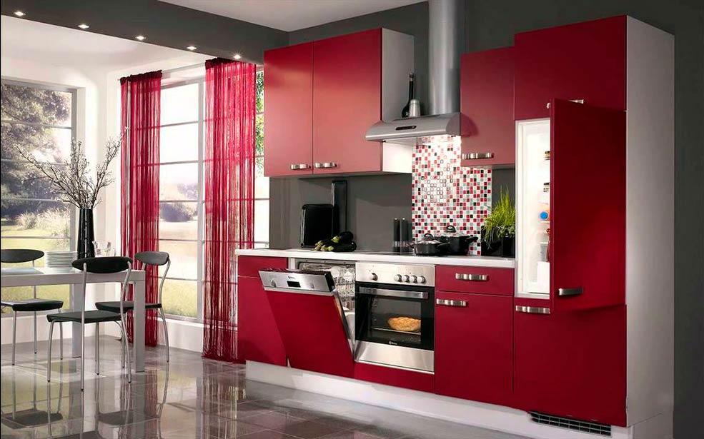 Червона кухня фото в інтер єрі 2329c544d9d71