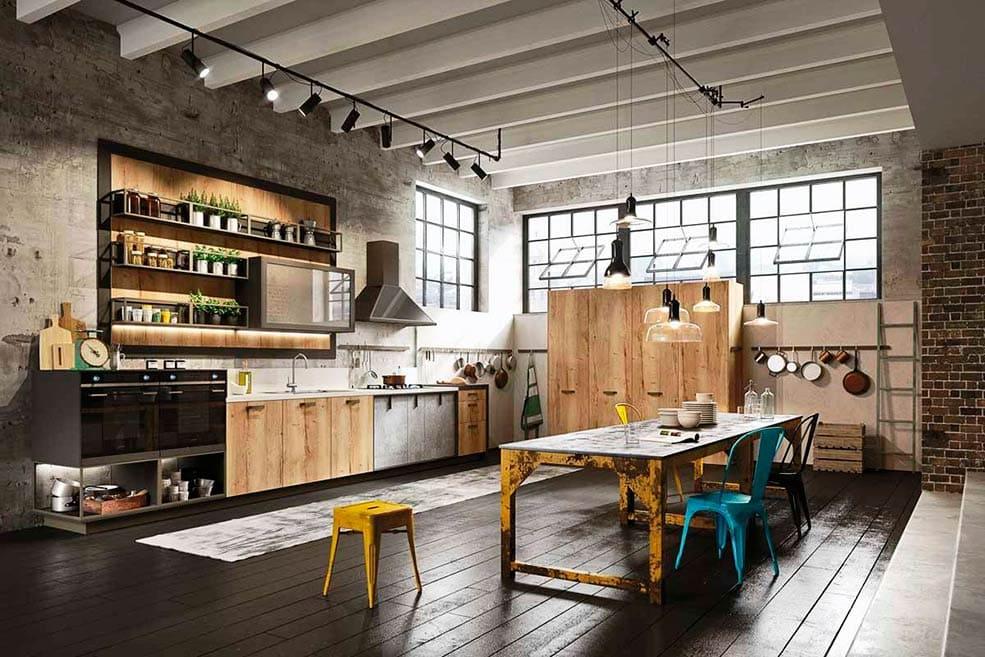 кухня-лофт-прямая