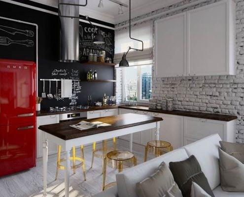 кухня-студия-лофт-зонирование
