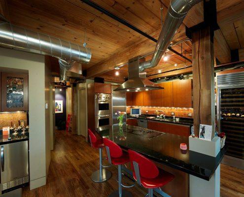 кухня-лофт-освещение