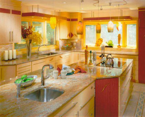 бежево-жёлтая-кухня