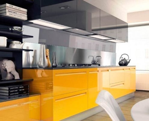 жёлто-серая-кухня