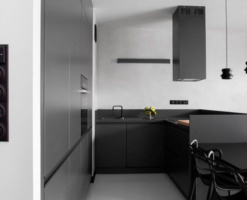 кухня-в-серых-тонах