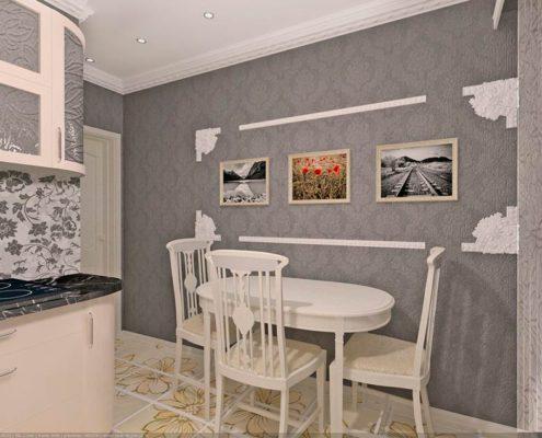 кухня-с-серыми-стенами