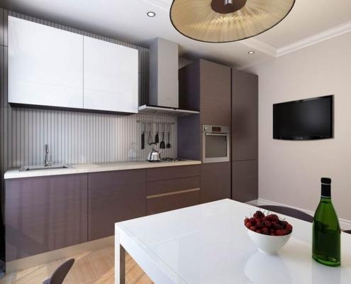серая-кухня-минимализм