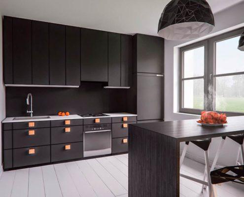 дизайн-прямой-кухни-в-квартире