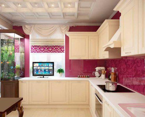 кессонированый-потолок-на-кухне