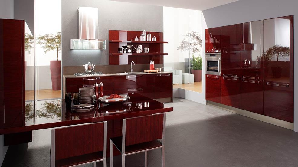 бордовая-кухня