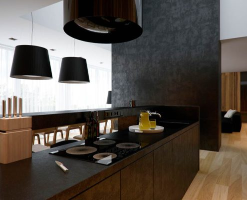 кухня-прямая-минимализм
