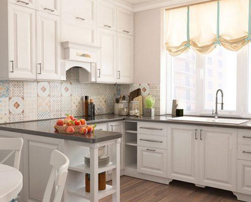 белая-кухня-прованс-кирпичная-стена