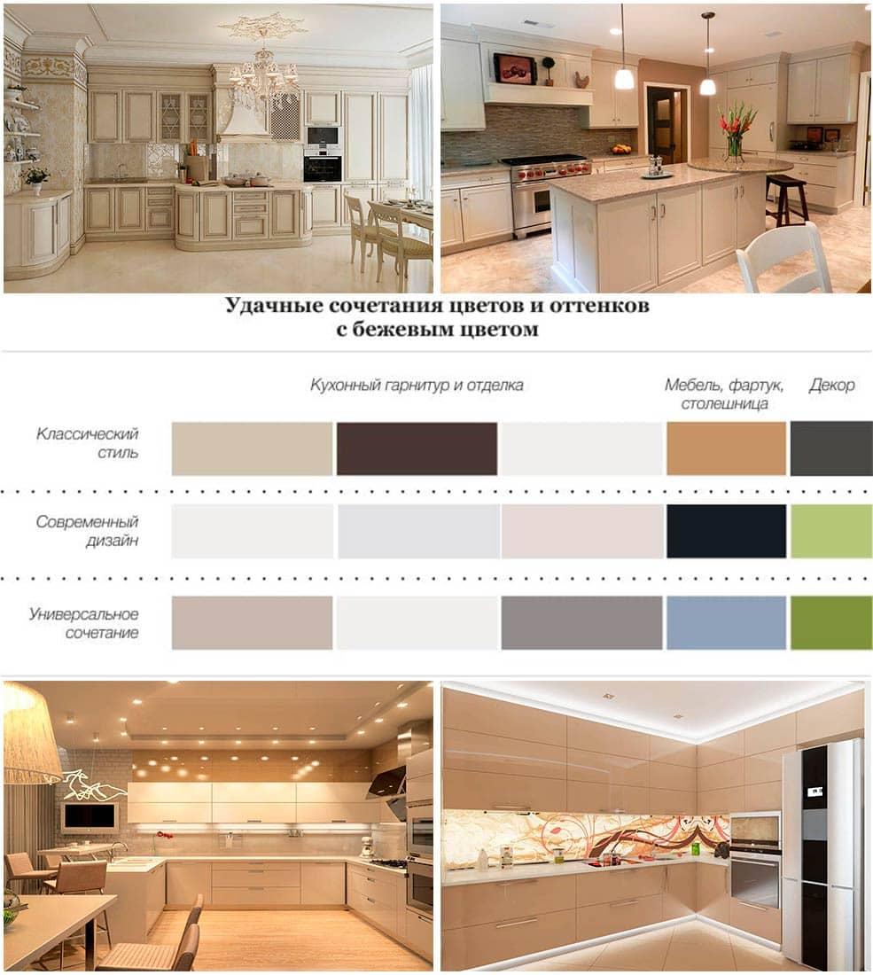 кухни-бежевого-цвета-фото