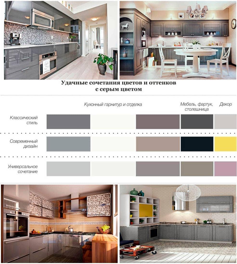 кухни-серого-цвета-фото