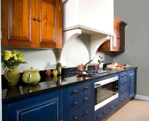 сине-коричневая-кухня