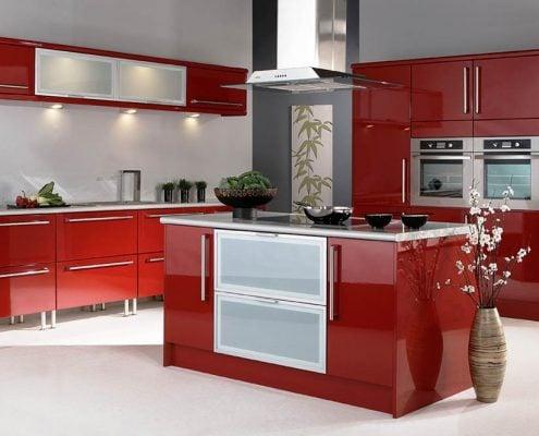 красная-кухня-с-островом