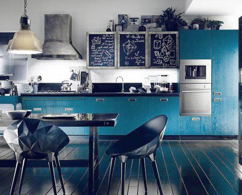 кухня-в-синих-тонах