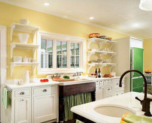 жёлтые-стены-на-кухне