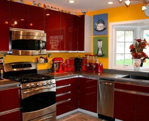 кухня-с-жёлтыми-стенами