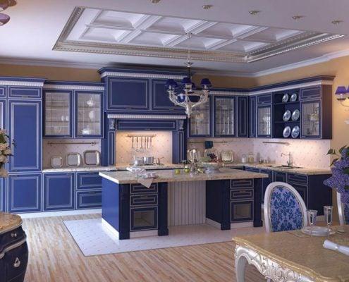 синяя-кухня-в-классическом-стиле
