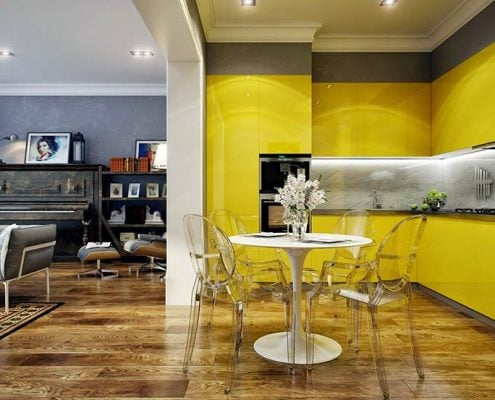 жёлтая-кухня-в-интерьере