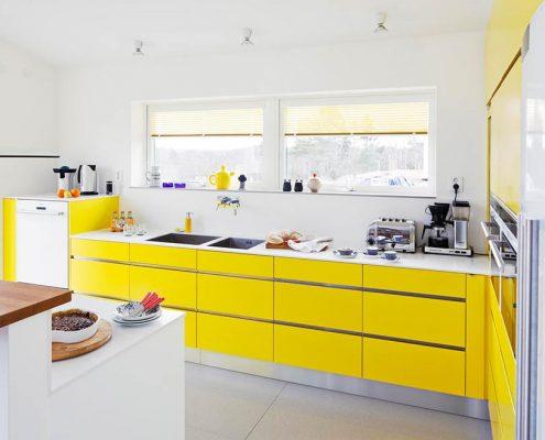 жёлтая-кухня-хай-тек