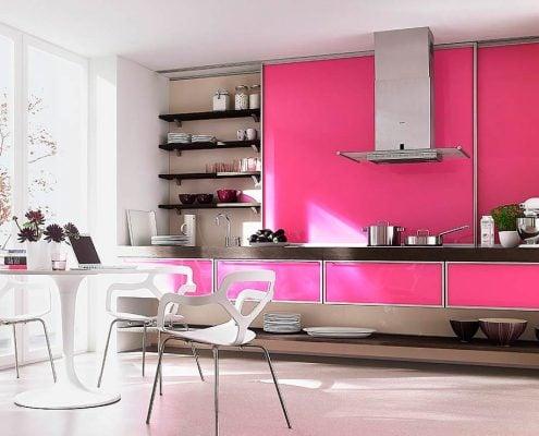 розовая-кухня-хай-тек