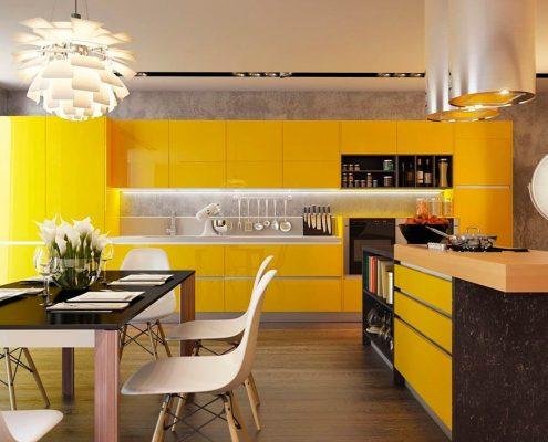 дизайн-жёлтой-кухни