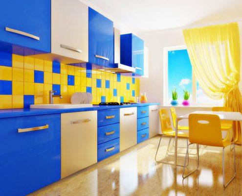 сине-жёлтая-кухня