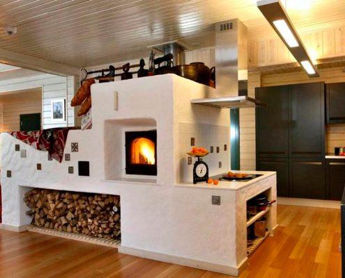 кухня-в-частном-доме-с-печью