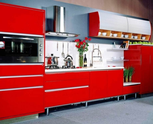 красный-цвет-кухни-фото