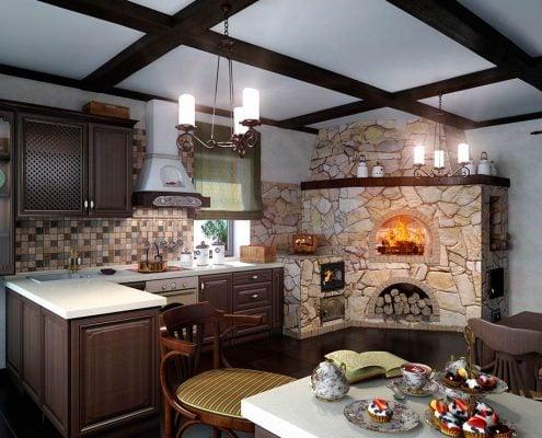 интерьер-кухни-в-частном-доме-фото