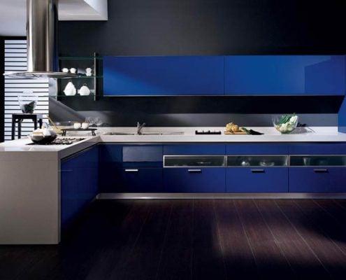 синяя-кухня-хай-тек
