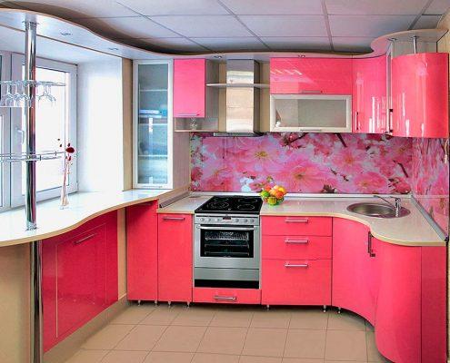 кухня-в-розовом-цвете