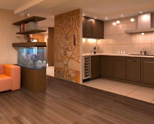 перегородка-на-кухне-в-частном-доме