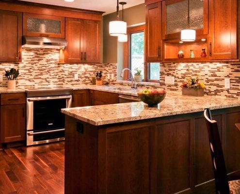 коричневый-цвет-кухни