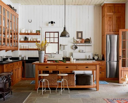 дизайн-коричневой-кухни