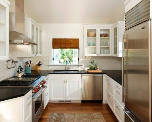 п-образная-маленькая-кухня