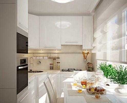маленькая-кухня-в-белых-тонах