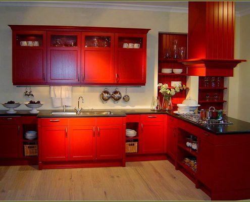 дизайн-красной-кухни