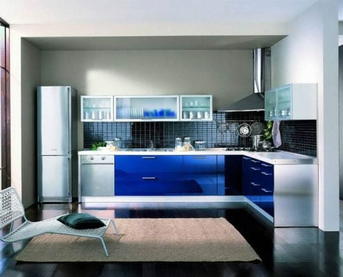 дизайн-синей-кухни