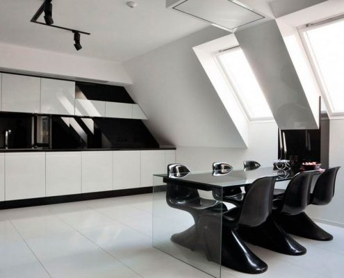 чёрно-белая-кухня-модерн
