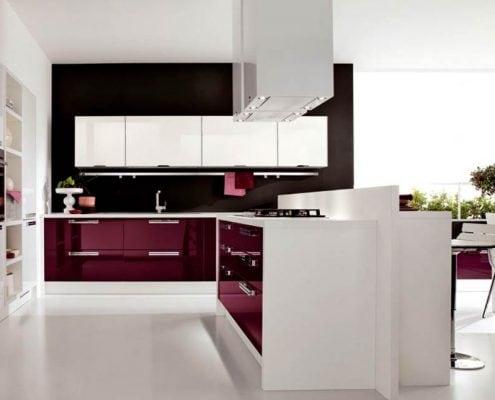 чёрно-белая-кухня-глянец