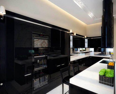 бело-чёрная-кухня-в-интерьере